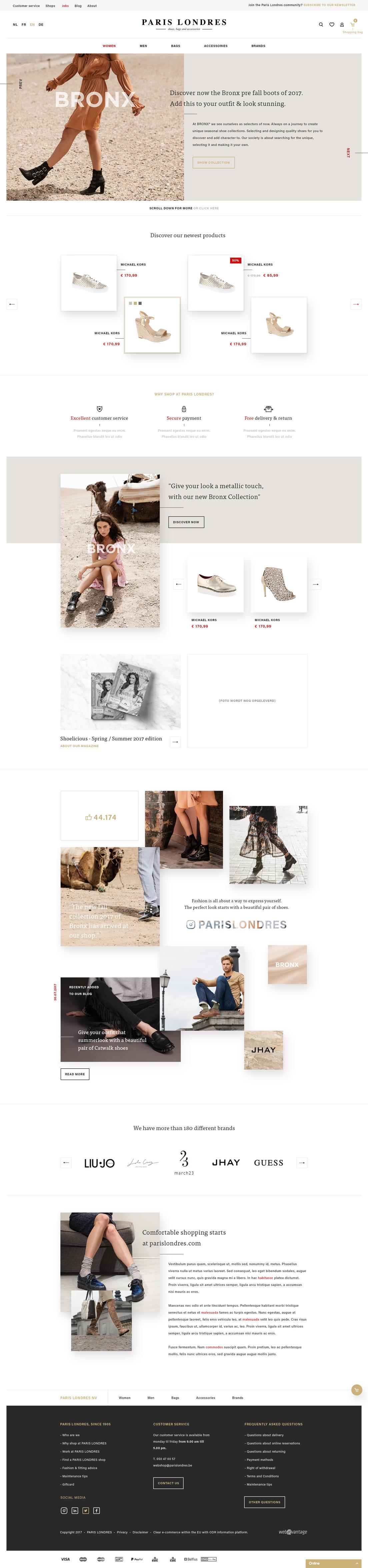 Webatvantage showcase - Project Paris Londres - Website
