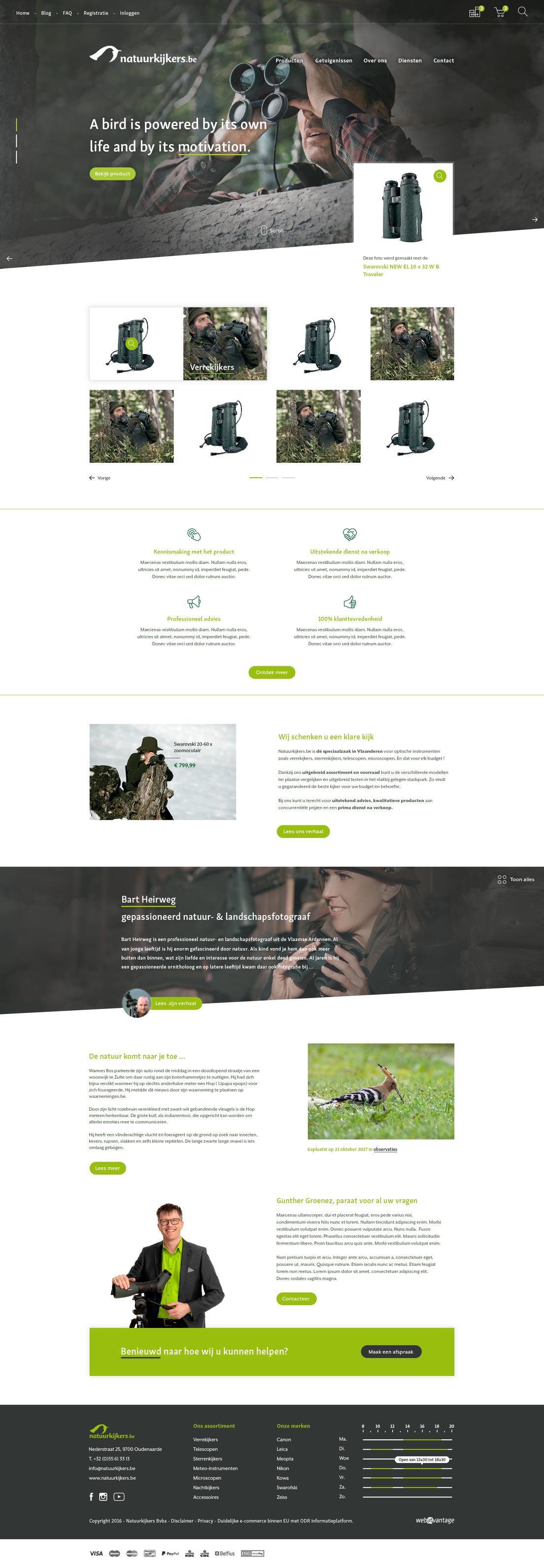 Webatvantage showcase - Project Natuurkijkres - Website