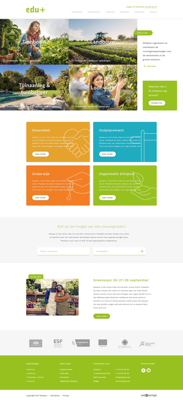 Webatvantage showcase - Project Eduplus - Website