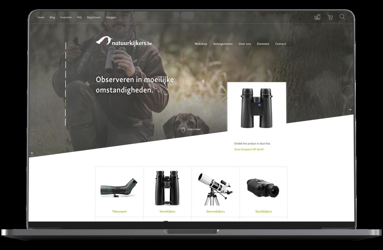 Webatvantage showcase - Project Natuurkijkers - Desktop