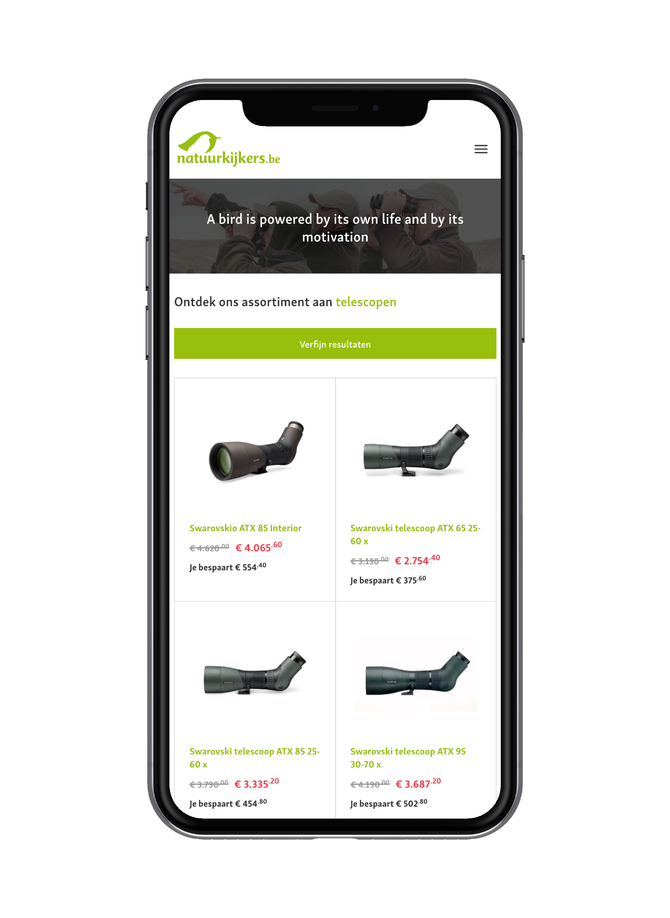 Webatvantage showcase - Project Eduplus - Mobiel