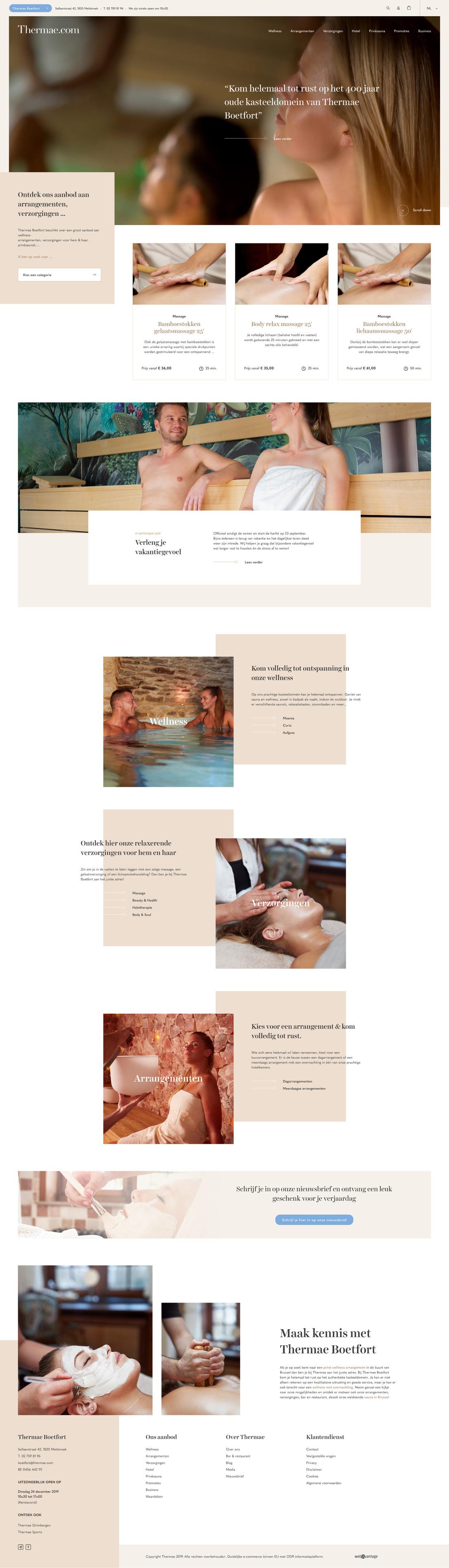 Thermae desktop homepage