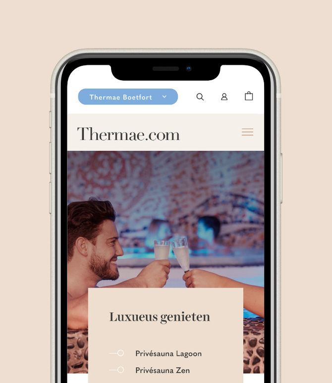Thermae iphone left