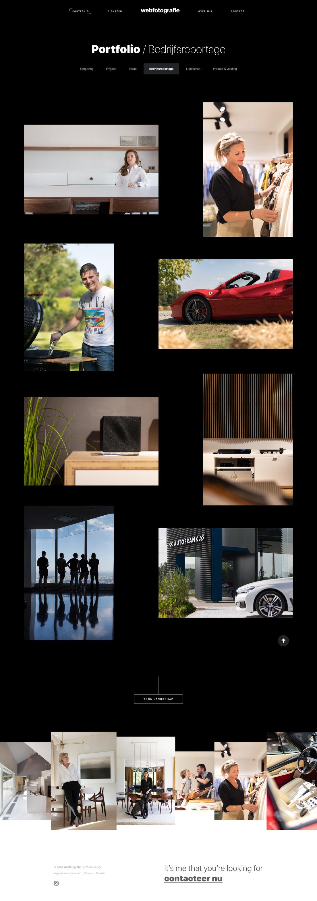 Webfotografie - website - portfolio