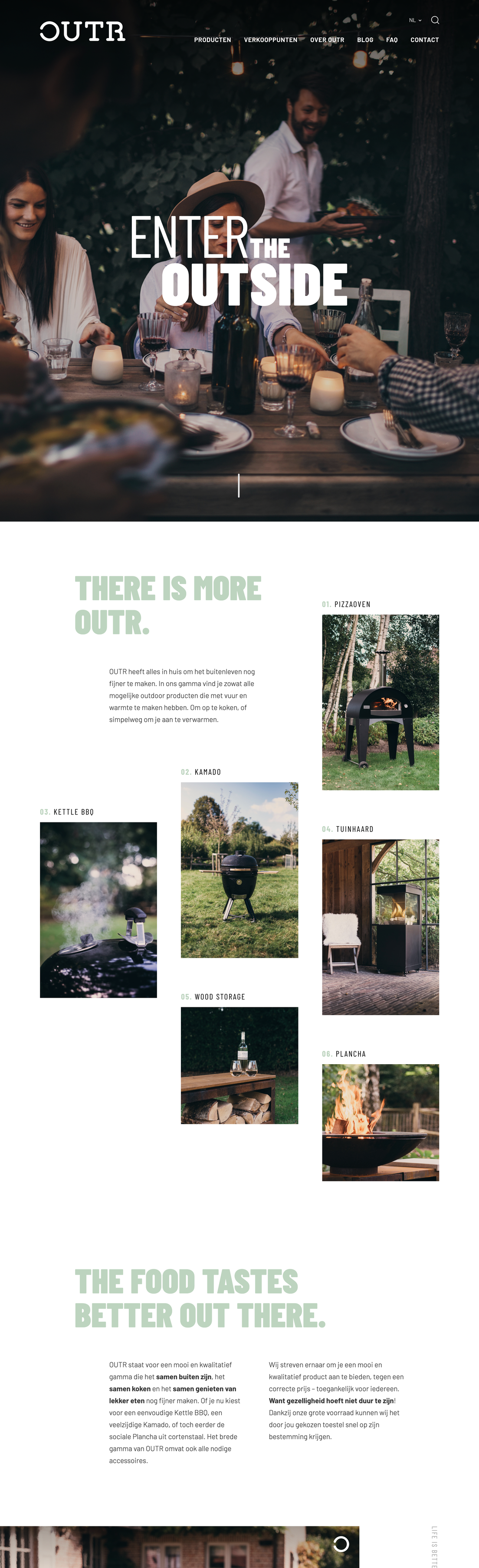 Showcase Webatvantage - Project Outr - Homepagina